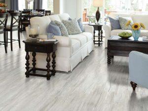 vinyl wood style floor installation